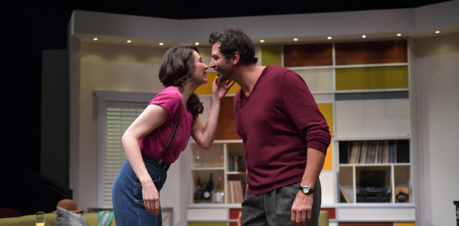 Liz Sklar* and Elijah Alexander* in Tom Stoppard's THE REAL THING. Photo by David Allen. (*Member, AEA.)